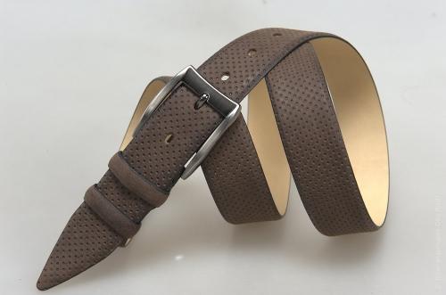 Мужской ремень № 18077 ,цвет коричневый