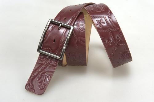 Женский ремень № 16696, цвет бордовый