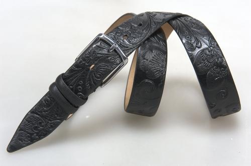 Мужской ремень № 15651 ,цвет черный