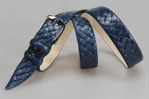 Мужской ремень № 15224 ,цвет синий