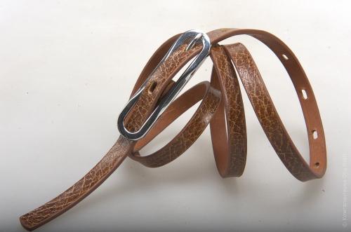 Женский ремень № 14205, цвет коричневый