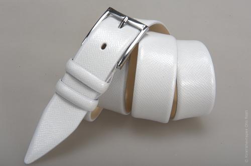 Мужской ремень № 14562 ,цвет белый