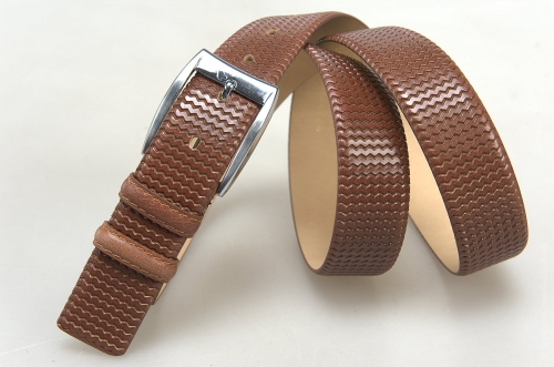 Мужской ремень № 18141 ,цвет светло-коричневый
