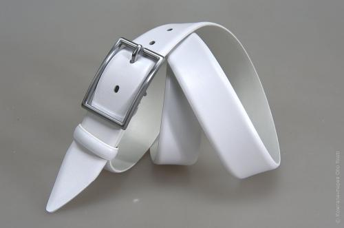 Мужской ремень № 15021 ,цвет белый