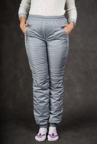 Брюки женские на манжетах по щиколотке (пояс резинка) синтепон Арт.2504 серый