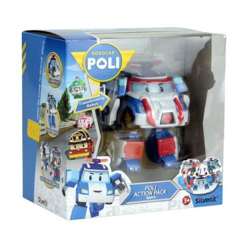 Машинка Robocar Poli Поли трансформер 10 см + костюм астронавта2