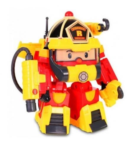 Машинка Robocar Poli Рой трансформер 10 см + костюм супер пожарного2