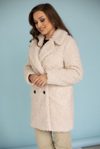 Пальто женское демисезонное 23720 (бежевый)