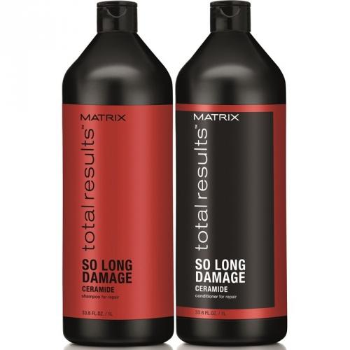 Шампунь с керамидами для восстановления волос Matrix Total Results So Long Damage