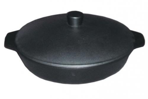 Сковорода чугунная 280/60-2-КАлД                               с алюминиевой крышкой