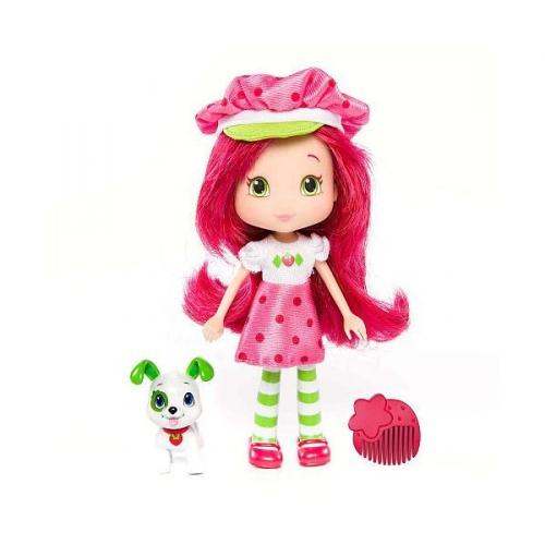 Кукла Земляничка с питомцем 15 см 12231