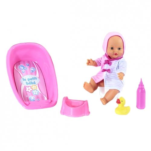 Кукла Le Petit Bebe, с ванночкой и купальными аксессуарами 98413