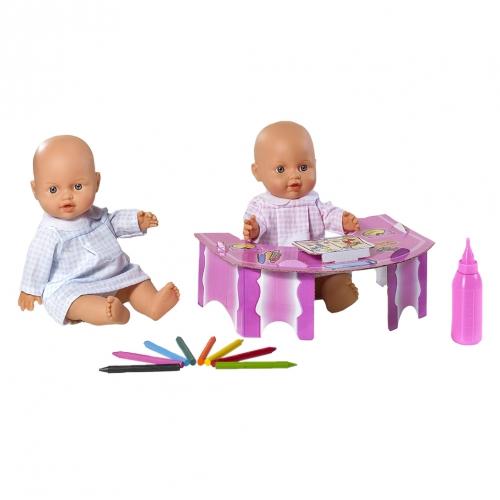 Кукла Le Petit Bebe, подарочный набор со столиком и аксессуарами школы 98426