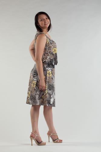 Распродажа! Платье с защипами 13М