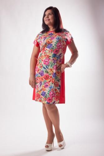 Распродажа! Платье с отрезным бочком 6М