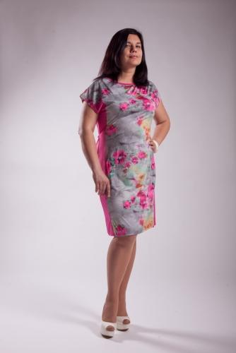 Распродажа! Платье с отрезным бочком 5М