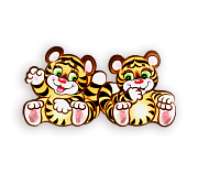 вешалка тигрята