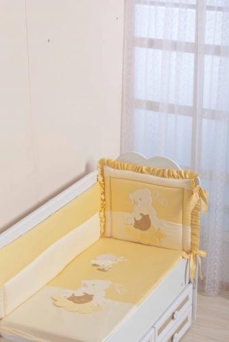 Бампер в кроватку для новорожденного «Пасечник»