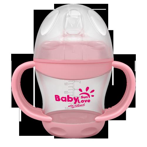 Baby Sun Love Первая чашка-непроливайка 160 мл.