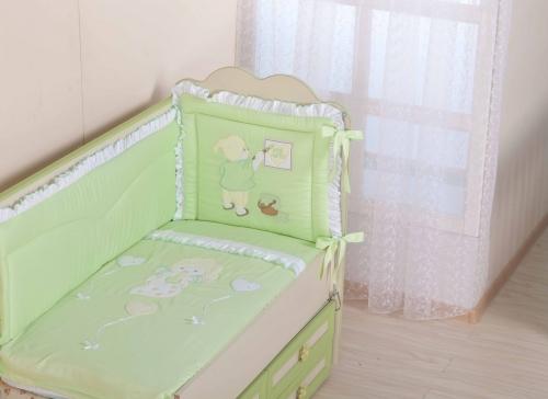 Бампер в кроватку для новорожденного «Художник»