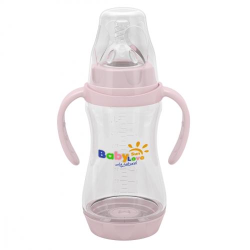 Baby Sun Love Бутылочка с ручками и съемным дном 270 мл.