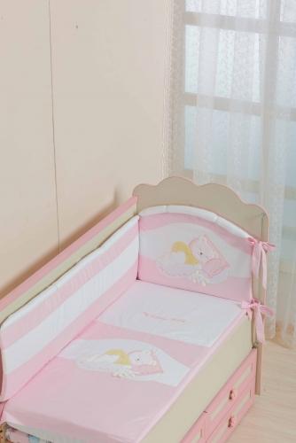 Бампер в кроватку для новорожденного «Мой маленький друг»