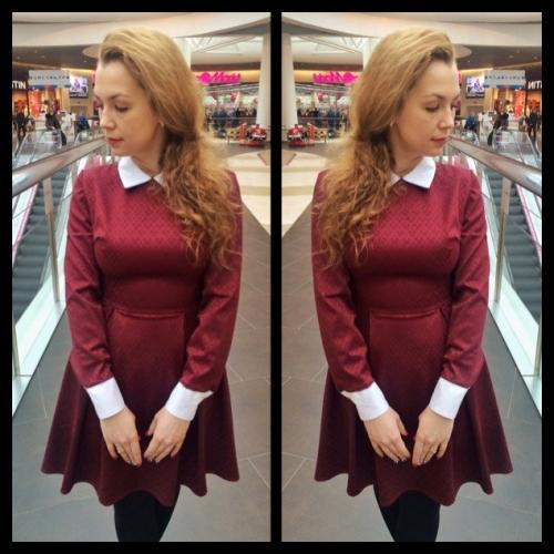 Платье Беатрис бордо