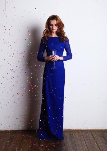 Платье Мэри макси Синий