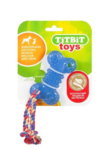 TiTBiT 0748/000748 Косточка жевательная (игрушка для собак) 10см