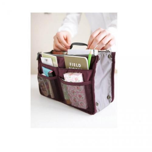 Органайзер в сумку для гаджетов и мелочей (цвет бордовый)