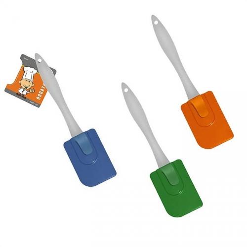 Лопатка с держателем (силикон, 19 см, цвет в ассортименте)