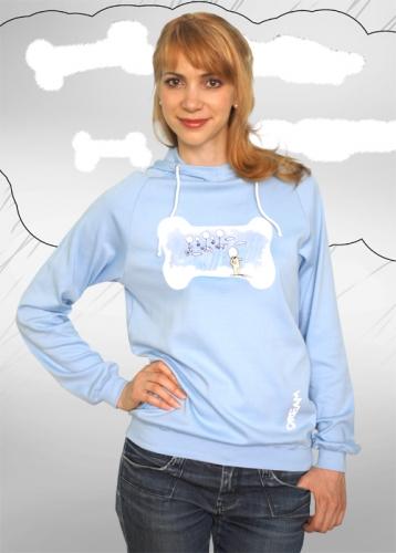 Мечта, футболка женская (голубая)