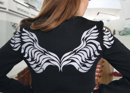 Крылья (рисунок серого цвета)