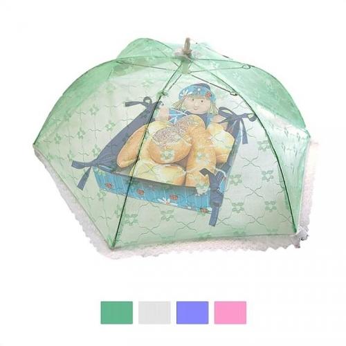 Защитный зонт для продуктов (65*65*20 см, цвет в ассортименте)