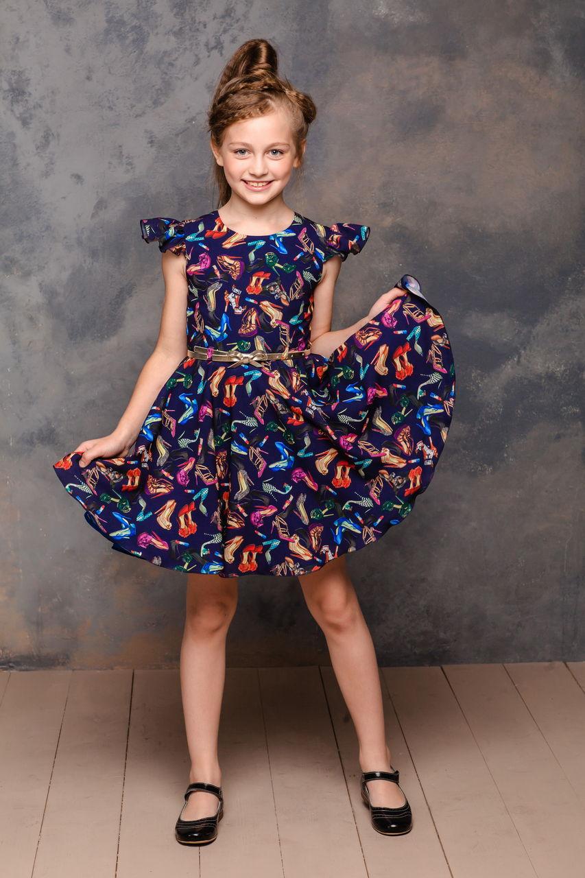 Девочка В Платье И Туфлях