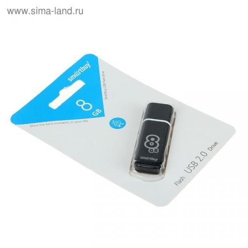 USB-флешка Smartbuy 8GB Glossy series Black, черная