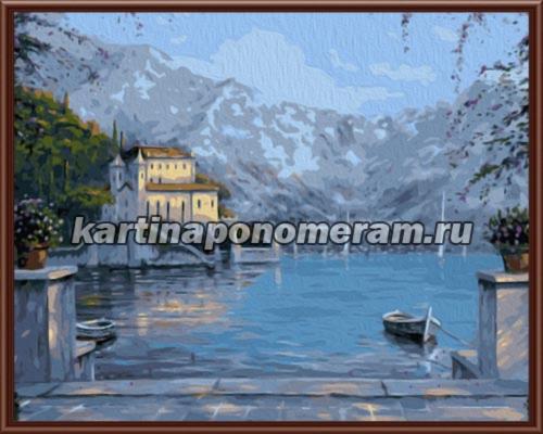 Вид на озеро Комо. Италия