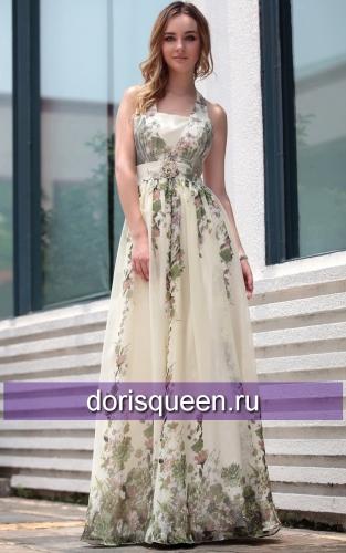 Платье без бретелей жаккард