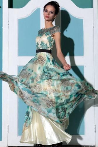 Платье с леопардовым принтом и аппликацией