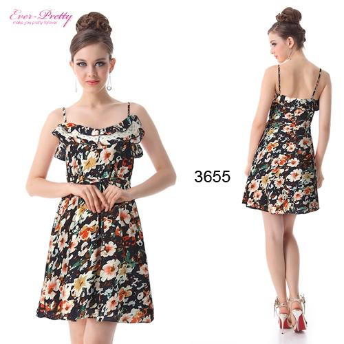Красочное летнее платье с цветочным принтом