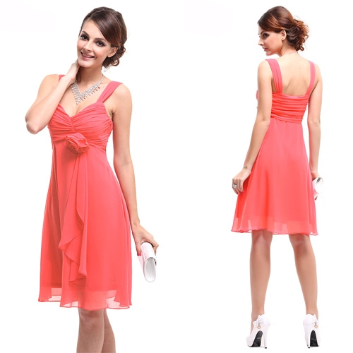 Изысканное розовое платье в цветком