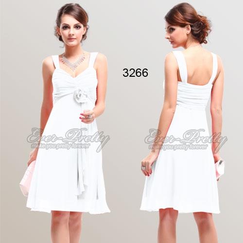 Изысканное белое платье в цветком