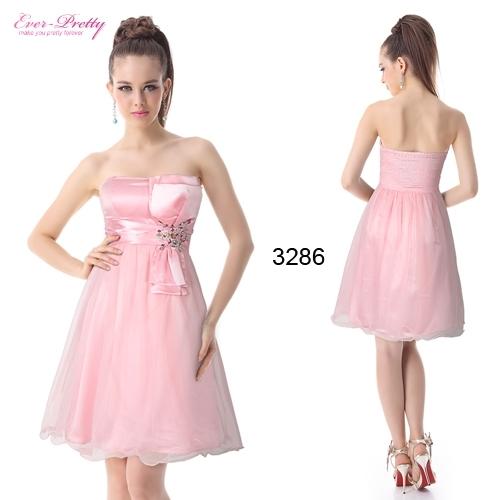 Розовое платье из органзы с кристаллами