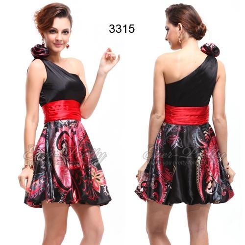 Коктейльное платье с цветком на плече