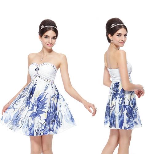 Коктейльное платье без бретелек с кристаллами
