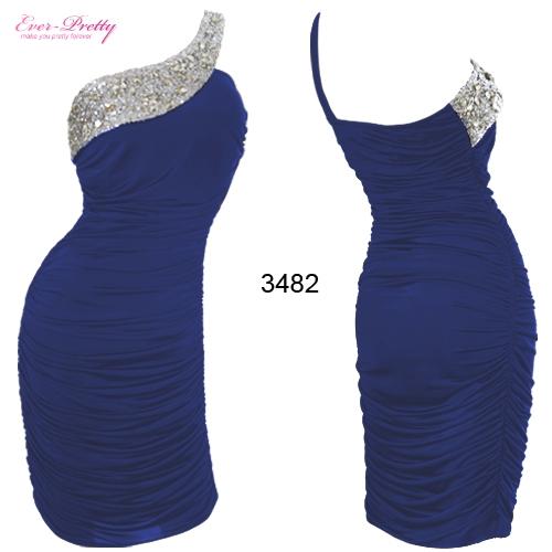 Маленькое синее платье со стразами
