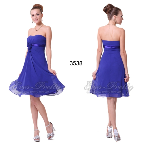 Синее коктейльное платье с цветами