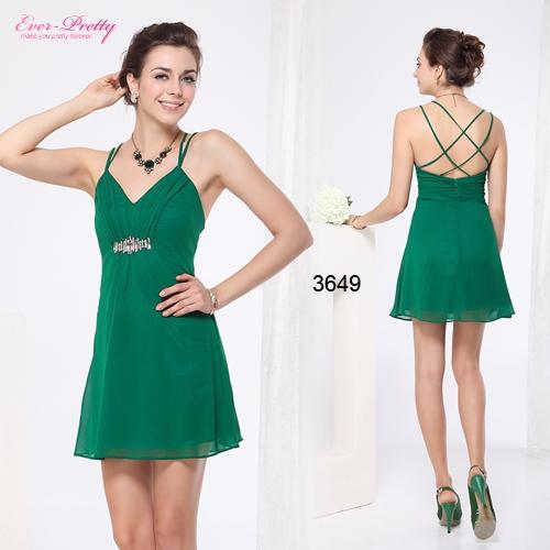 Зеленое шифоновое платье с блестками