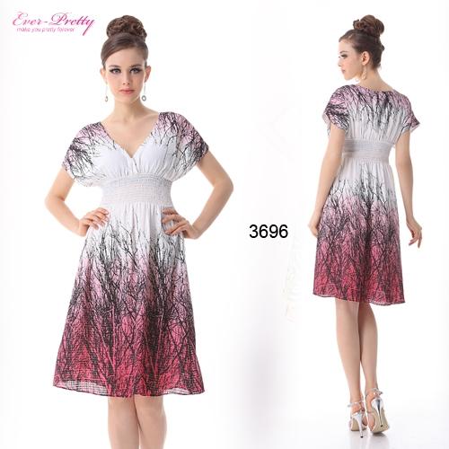 Платье с принтом и рукавом
