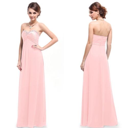 Вечернее платье без бретелек с кристаллами